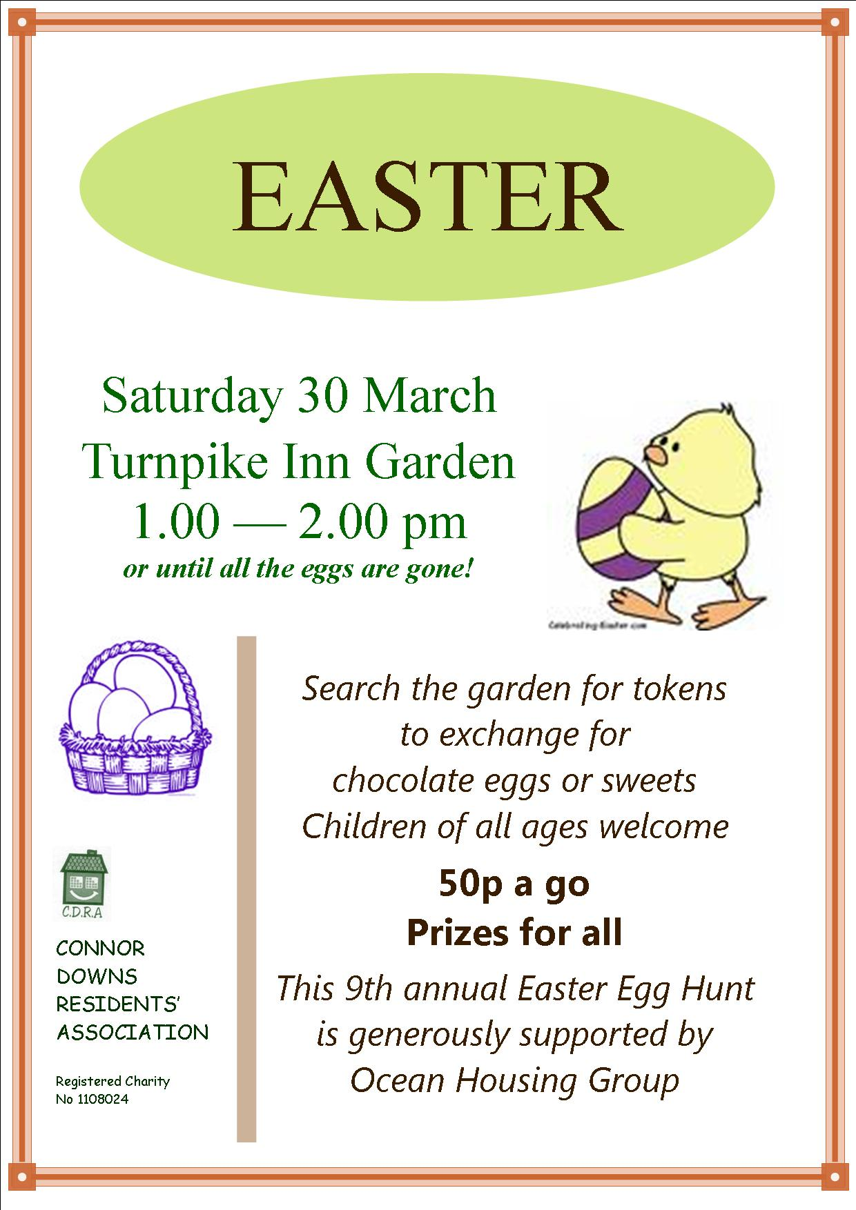 Easter Egg Hunt – Connor Downs Residents Association
