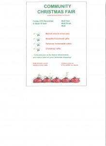 Community Christmas Fair Poster