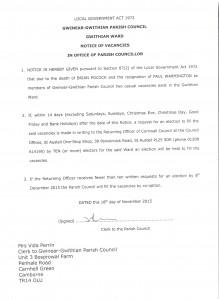 Notice of Vacancies 181115