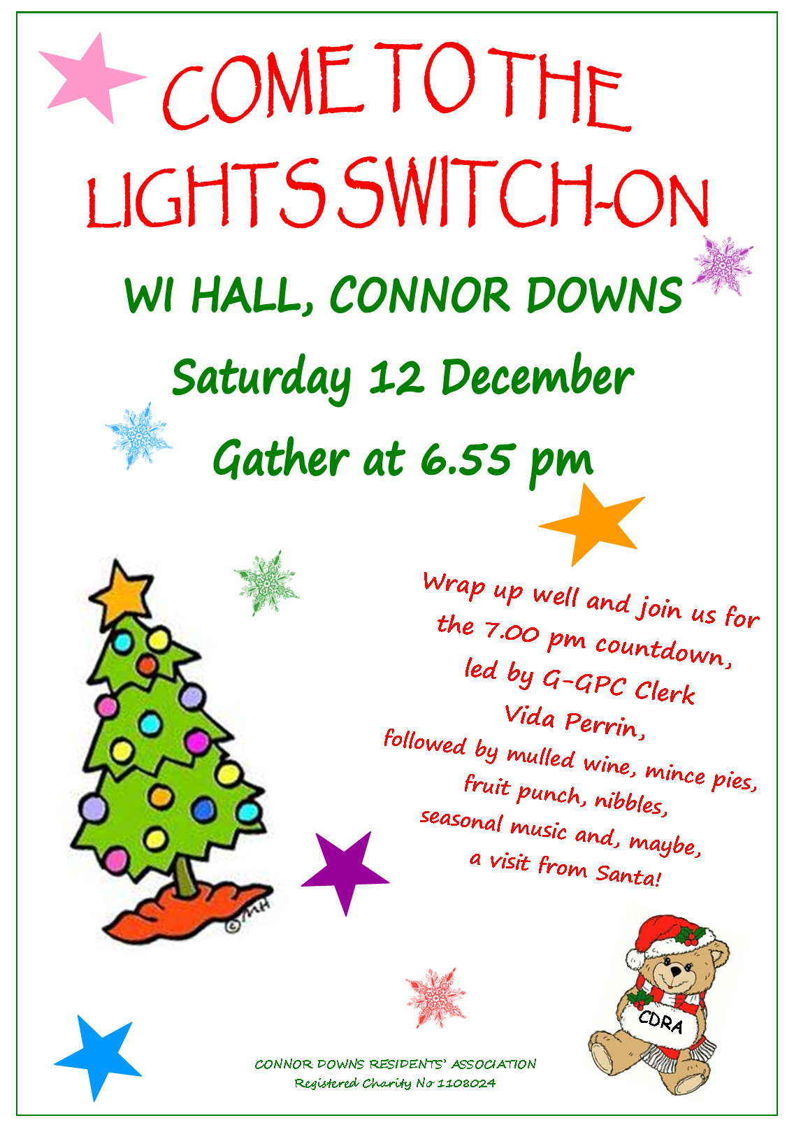 Connor Downs – Lights Switch On – Saturday 12th December