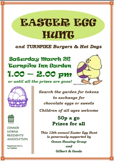 CDRA Egg Hunt 26th March