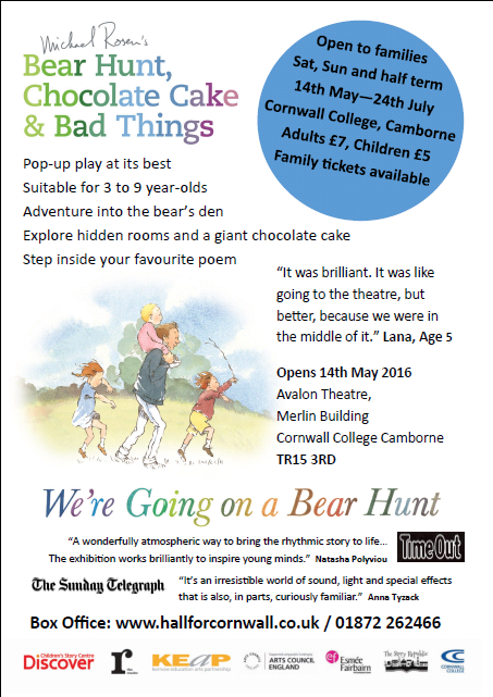 """We're Going on a Bear Hunt"" – play at Cornwall College, Camborne"