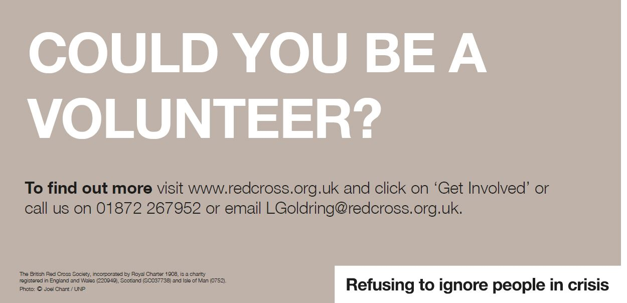Could you volunteer with the Red Cross?