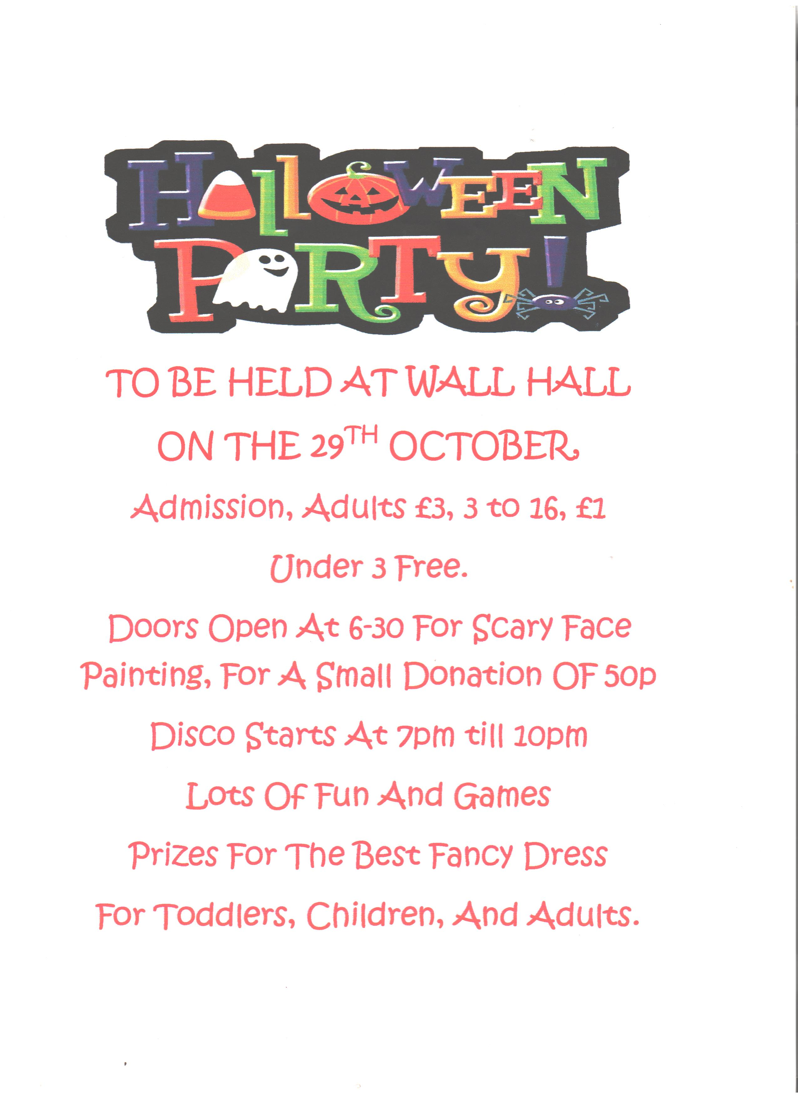 PTRA – Halloween Party – 29th October