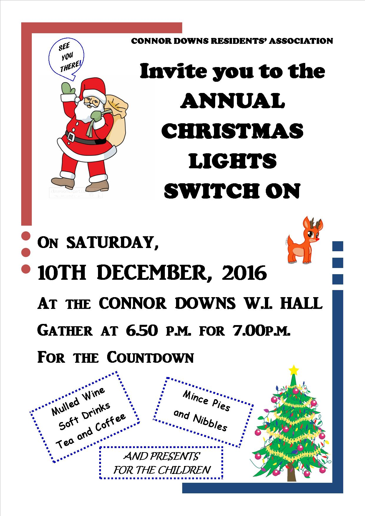 Connor Downs Lights Switch On – Saturday 10th December