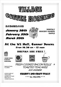 Coffee Morning Poster (1) spring times 2016 black and white