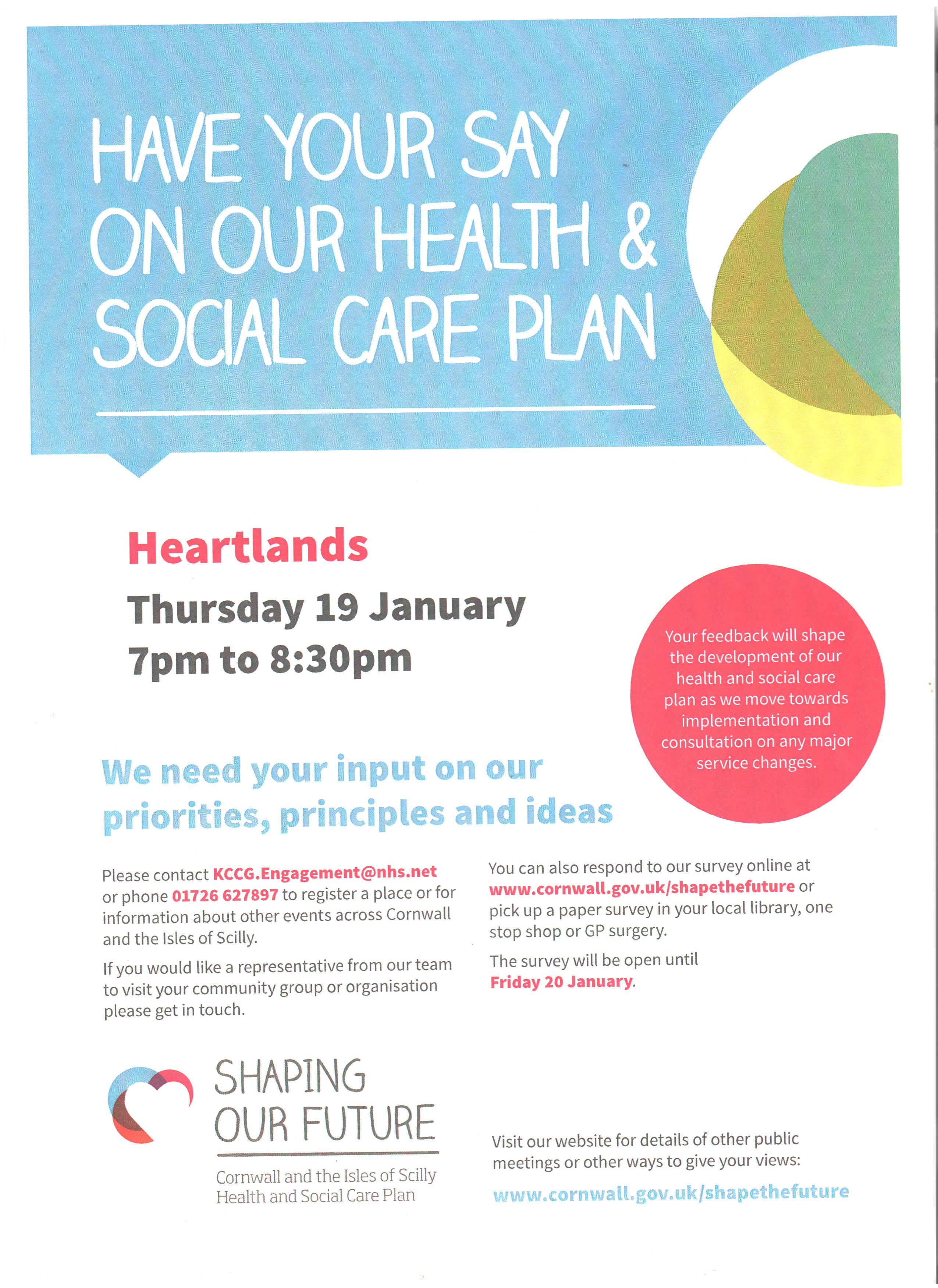 Have your say on Health and Social Care Plan