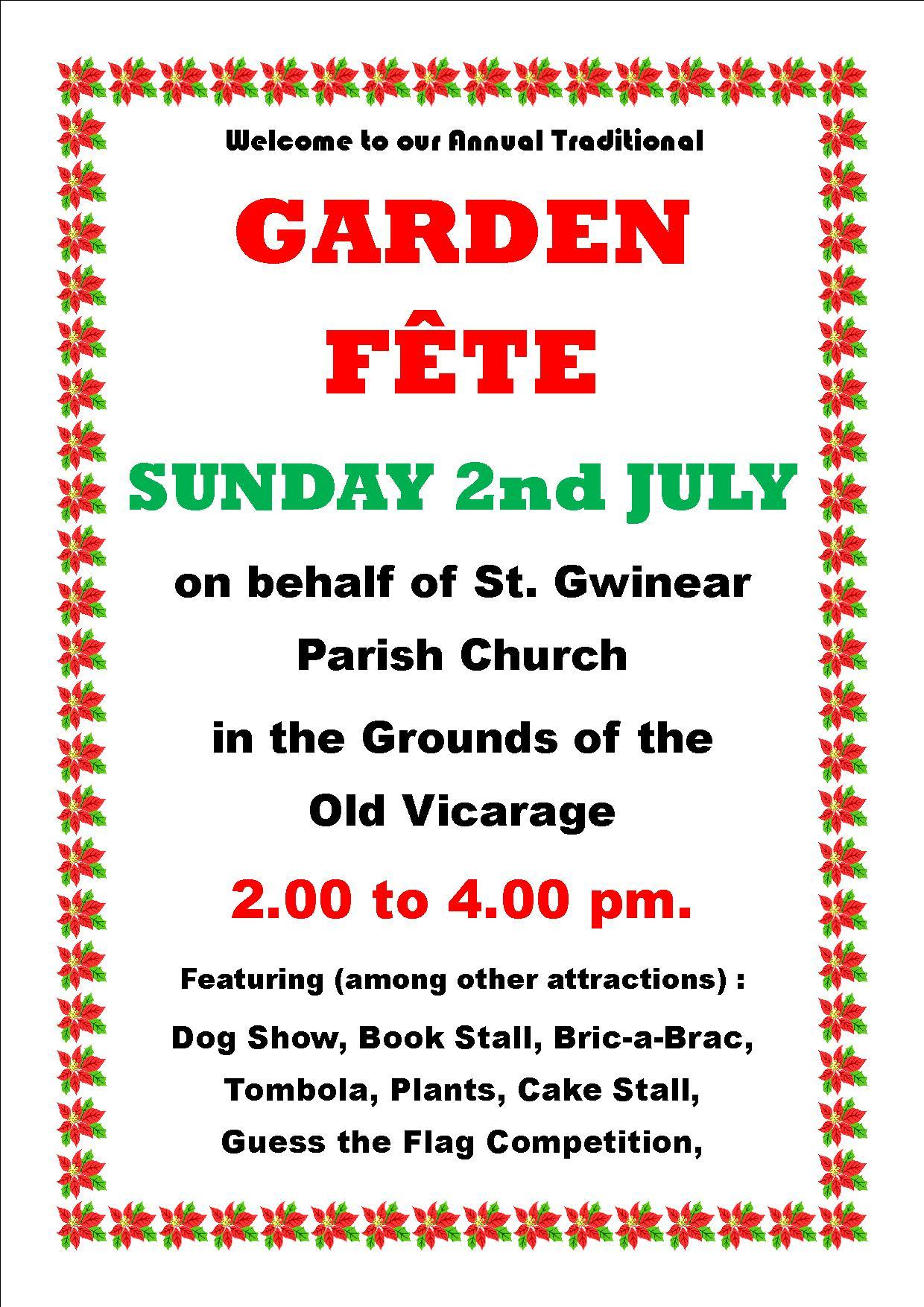 Gwinear  Church Garden Fete