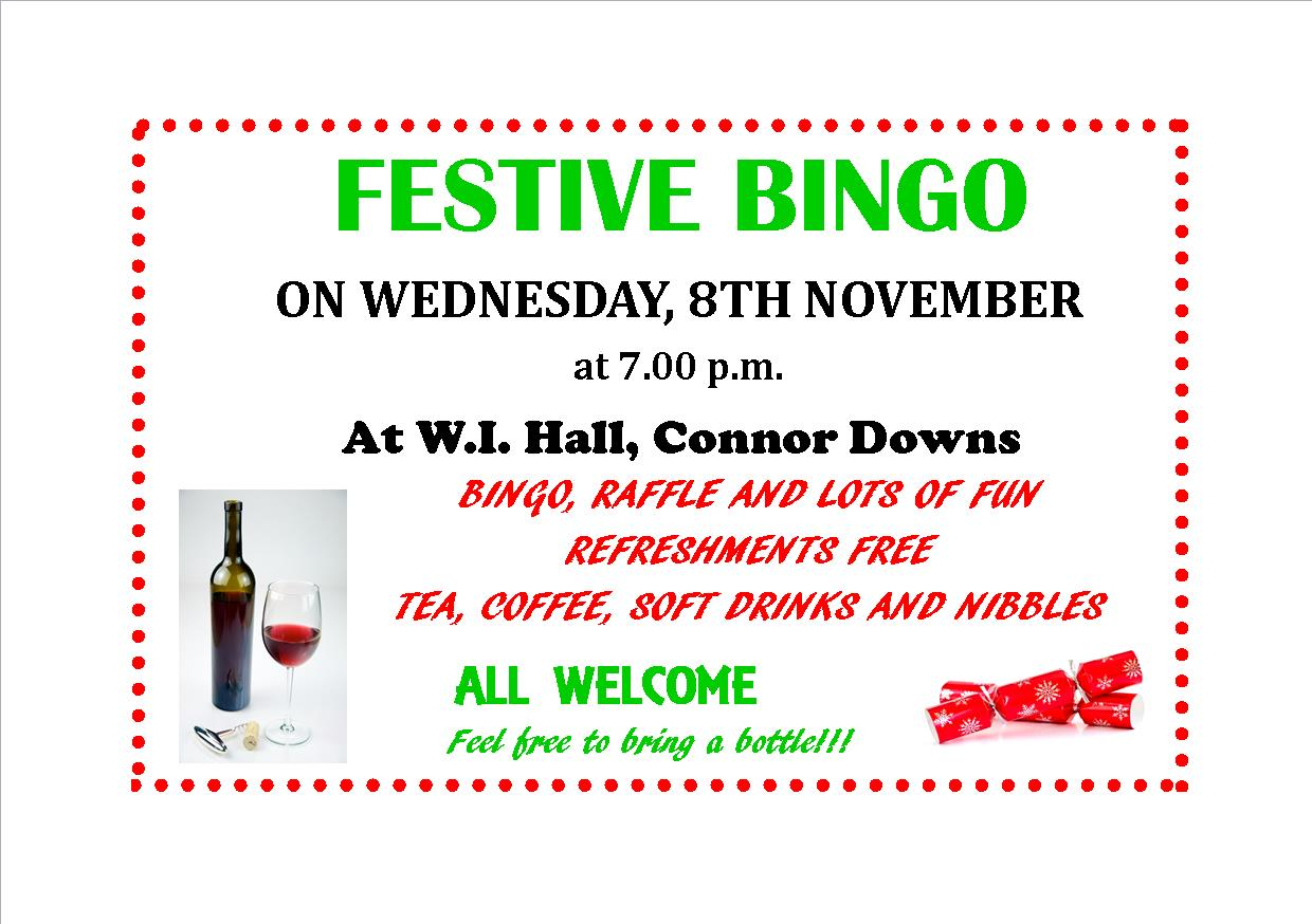 CDRA Bingo Fundraiser – 8th November 2017