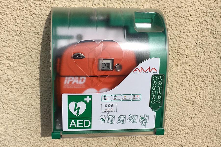Defibrillator at Atlantic Coast Holiday Park