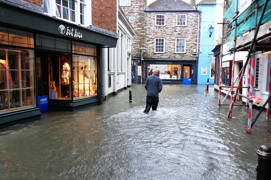 Flooding in town