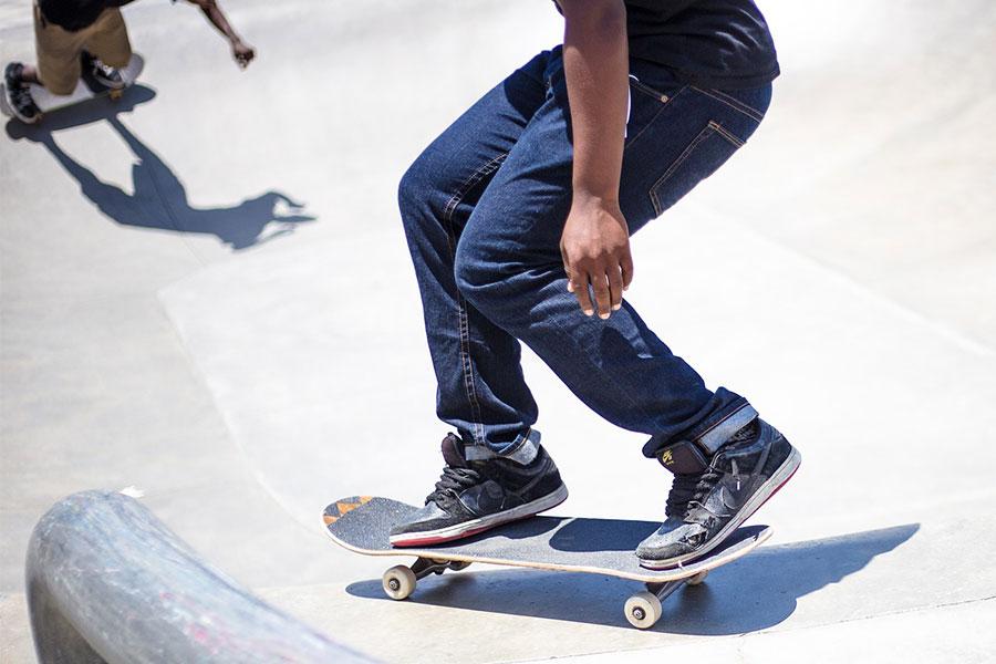 Skater on skateboard