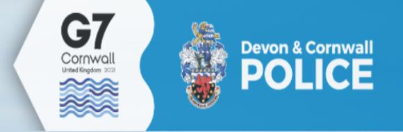 Devon & Cornwall Police G7 2021 logo