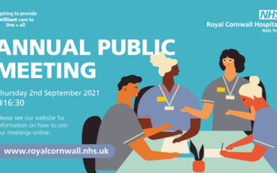Royal Cornwall Hospitals NHS Trust – Annual Public Meeting – 2nd Sept 2021