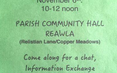 GVA COFFEE MORNING – REAWLA – SATURDAY 6th Nov 10-12